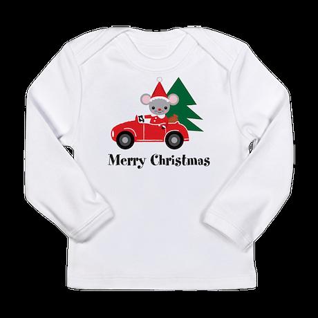 Santa Mouse Long Sleeve Infant T-Shirt