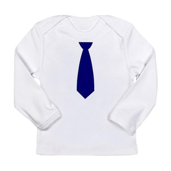 990fa01db634 Navy Blue Necktie (Neck Tie) Long Sleeve Infant T-Shirt Navy Blue ...
