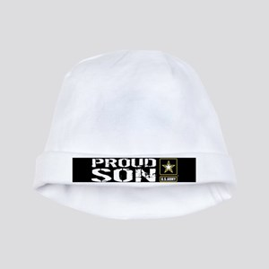 U.S. Army: Proud Son (Black) baby hat