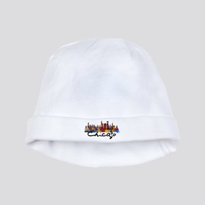 Chicago Illinois Skyline baby hat