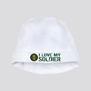 U.S. Army: I Love My Soldier (Green) baby hat