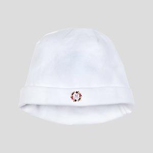 Boho Wreath Wedding Monogram Baby Hat