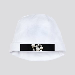 black and white pearl baby hat