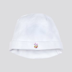 Pink Easter Bunny baby hat