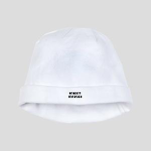 Caps lock on baby hat