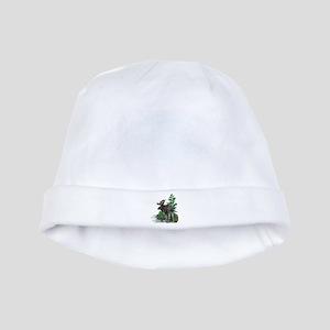 Bull moose art baby hat