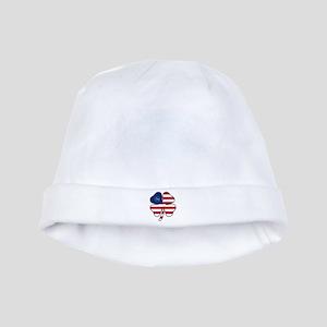 US Flag Clover baby hat