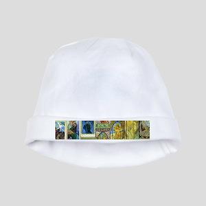 Mucha's Night and Day baby hat
