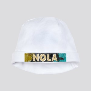 NOLA New Orleans Black Gold Turquoise Gru baby hat