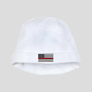 Firefighter: Black Flag & Red Line baby hat