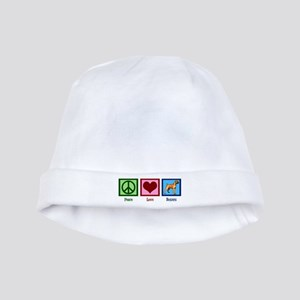 Peace Love Boxer Dog Baby Hat