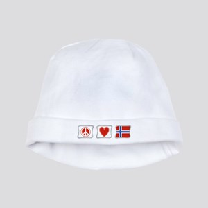 Peace, Love and Norway baby hat
