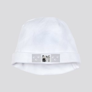 Keeshond Puppy (Drawing) Baby Hat