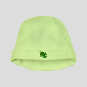 Fancy Irish 4 leaf Clover baby hat