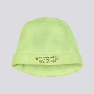 eat nothing with a face baby hat