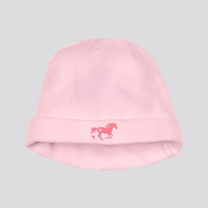 Pink Galloping Heart Horse baby hat