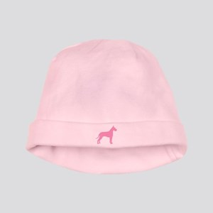 Pink Great Dane baby hat