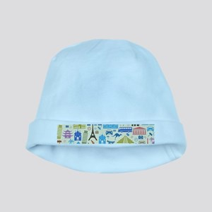 world Travel baby hat