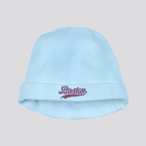 Retro Boston baby hat