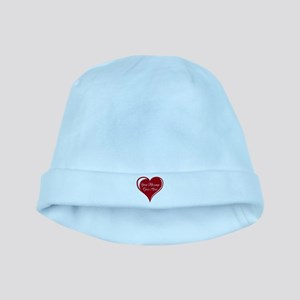 Your Custom Message in a Heart baby hat