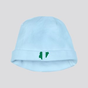 Nigeria Flag and Map baby hat