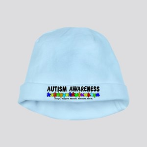 Aut Aware (Puzzle row) baby hat