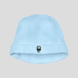 Finnish Flag Skull baby hat