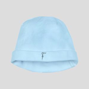 Black/White Mermaid baby hat