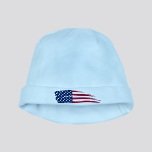 Tattered US Flag baby hat