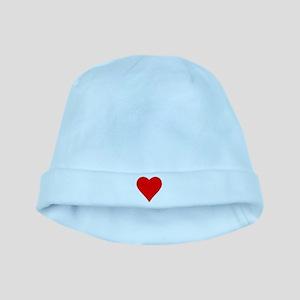 hearts baby hat
