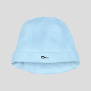 Eat. Sleep. Code. baby hat