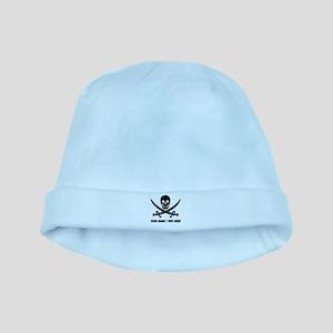 Custom Pirate baby hat