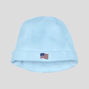 American Flag Waving baby hat
