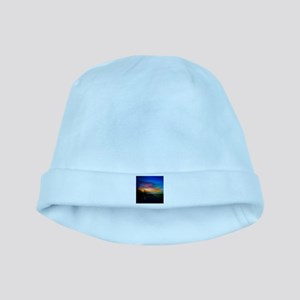 Sunrise Over The Sea And Lighthouse baby hat