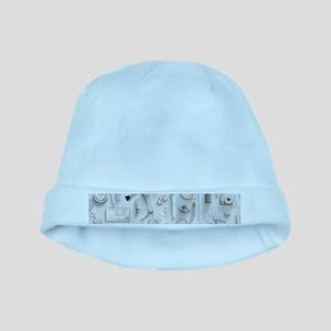 White Vanity Table baby hat