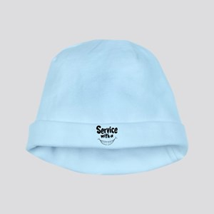 Service with a smile baby hat