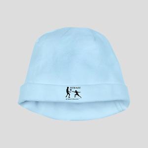 Beware of Short Fencers baby hat