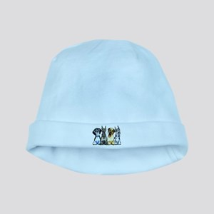 4 Great Danes baby hat