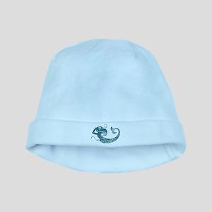 Worn Mermaid Graphic baby hat