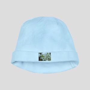 Speckled Sakura baby hat