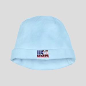 USA Flag Baby Hat