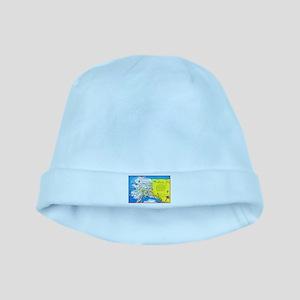 Alaska Map Greetings baby hat