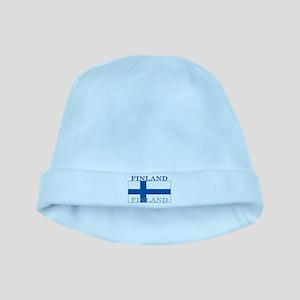 Finland Finish Flag baby hat