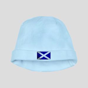 Scotish Flag Grunge baby hat