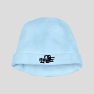 BabyAmericanMuscleCar_57BelR_Black baby hat
