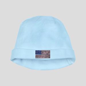 Grunge American Flag baby hat