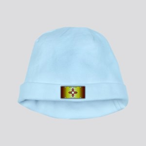 New Mexico Flag License Plate baby hat
