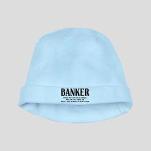 Funny Banker baby hat
