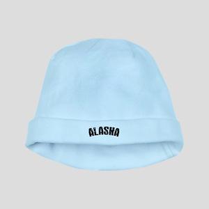 Alaska Block Font Black baby hat
