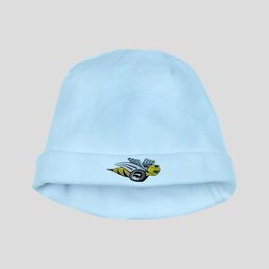 Neon Bee baby hat